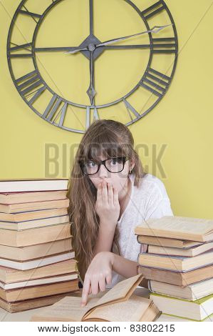 Girl With Glasses Read The Book Something Amazing..