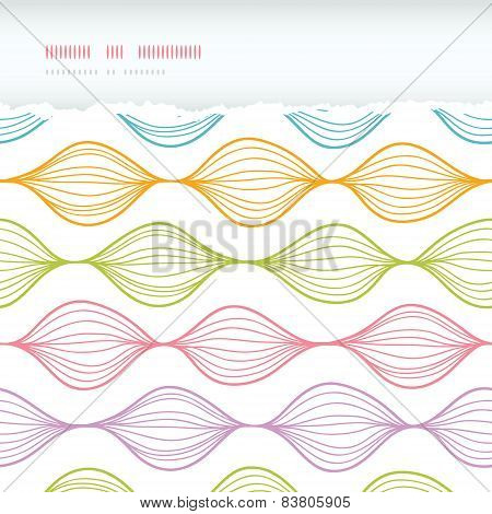 Colorful horizontal torn ogee seamless pattern background