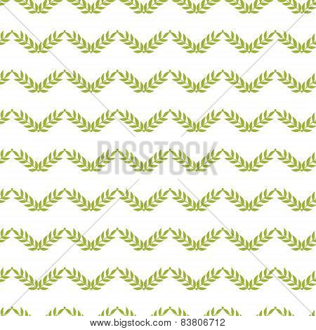 Green leaves chevron seamless pattern background