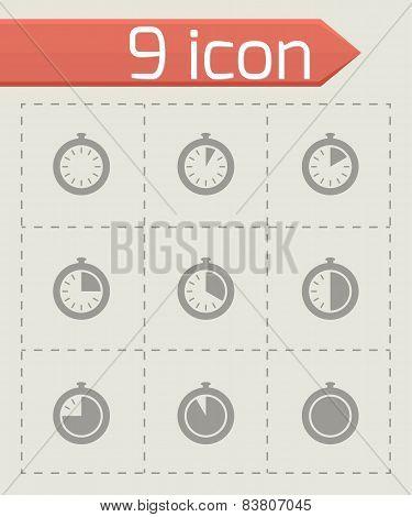 Vector stopwatch icon set