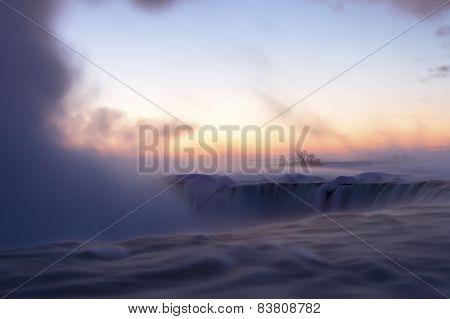 Misty Niagara at Dawn