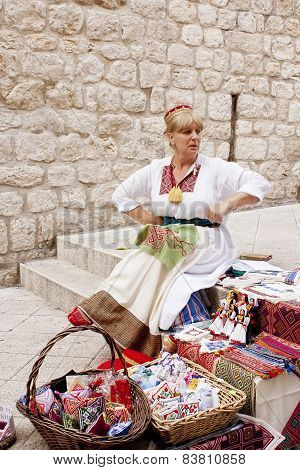 Souvenir Vendor In Dubrovnik's Old City