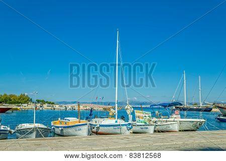 Supetar moored boats