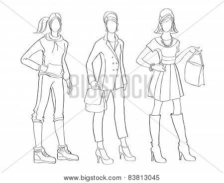 Vector Fashion Illustrations second