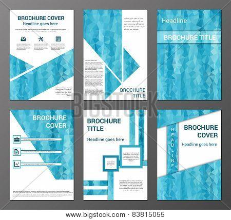 Brochures set