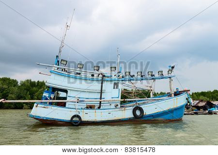Old Wooden Fishing Ship