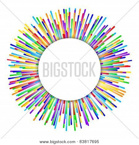 rainbow fireworks background