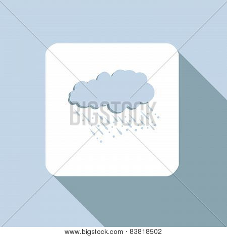 Cloud With Raindrops Icon