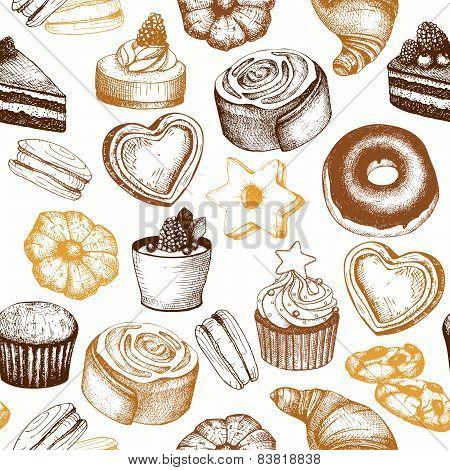 Vintage bakery background.