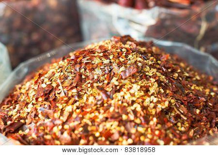 Spices  In The Souk In Dubai