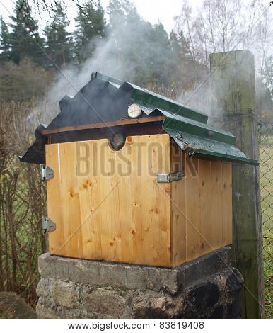 traditional country smokehouse, southern Bohemia, Czech Republic
