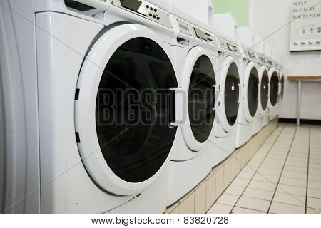 line of laundry machine