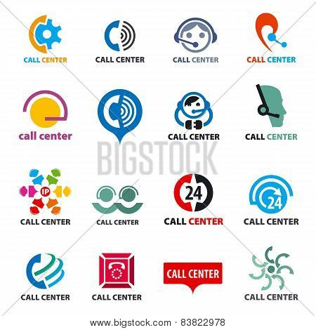 Big Set Of Vector Icons Call Center