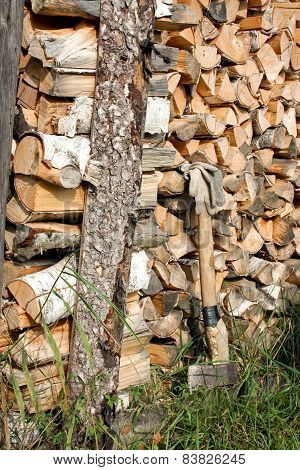 Preparation Of Fire Wood - Work For Strong People