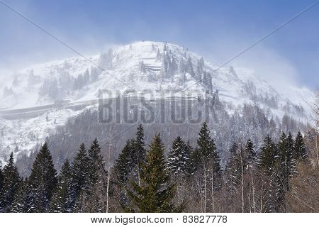 Gotthard Massif In The Winter