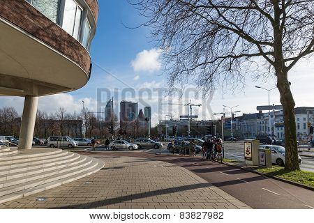 Street Scene Near The Provincial House Of The Hague In The Netherlands