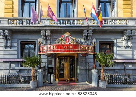 Historic Five Star Hotel Des Indes In The Hague, The Netherlands