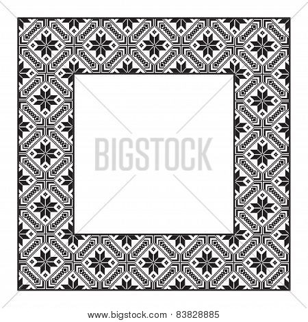 Set Square Frame Ornamental Ethnic. Vector Illustration