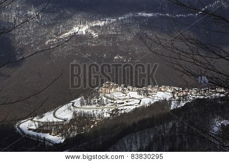 Roza Khutor plateau at the Aibga Ridge
