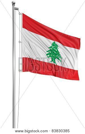 3D flag of Lebanon