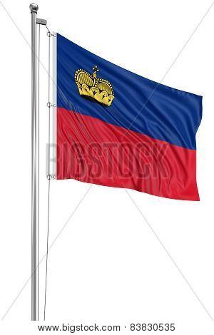 3D flag of Liechtenstein