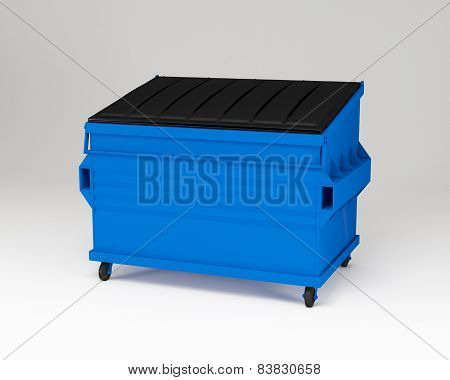 Blue trashbox.