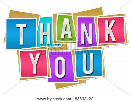 Thank You Colorful Blocks