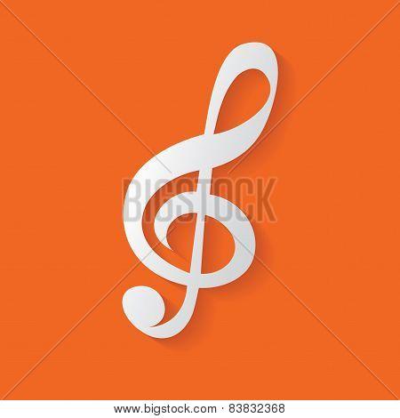 Song symbol,clean vector