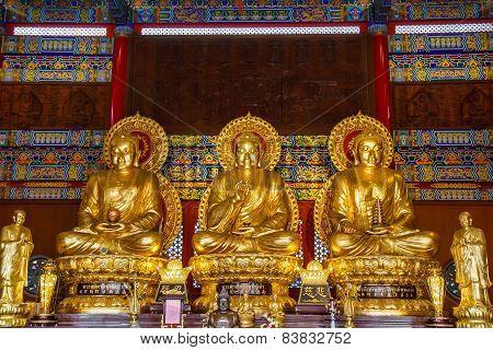 Buddha Statues Wat Borom Racha Kanchana Phisake
