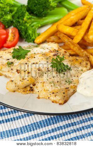 Baked White fish fillet
