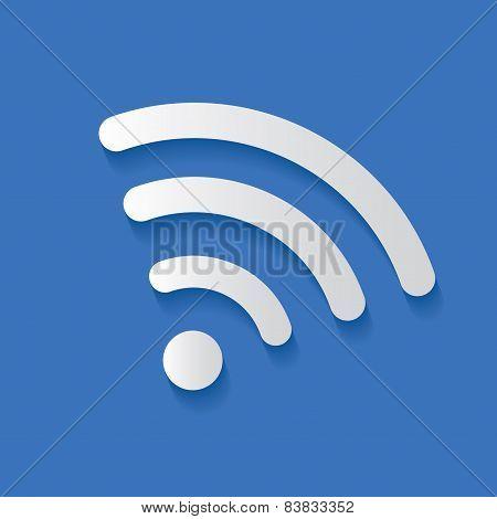 Wireless symbol,clean vector