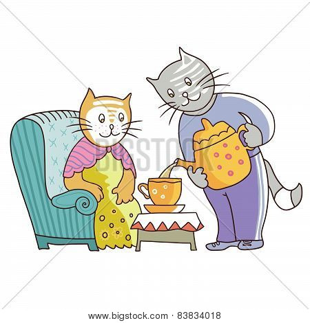 Cats, Couple In Love 1