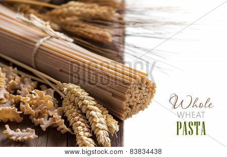 Whole Wheat Italian Pasta With Wheat Spikes