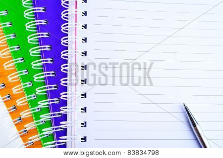 Open Blank Paper Page In Notebook