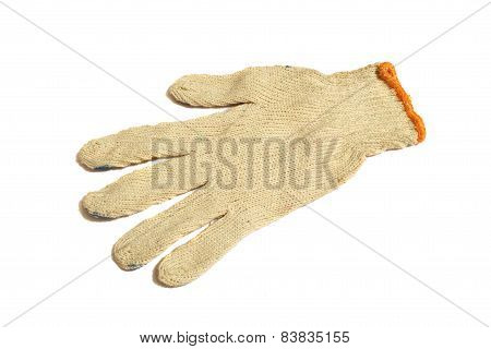 Hand wearing glove