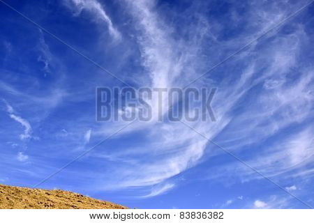 Cirrus Clouds Over Negev Desert