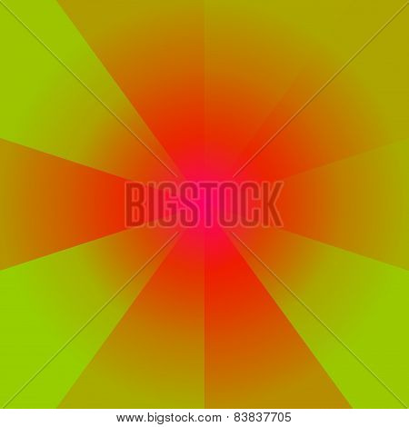 Heat colors abstract circular background