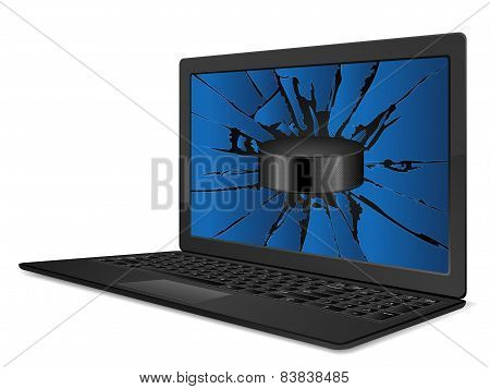 Cracked Laptop Hockey