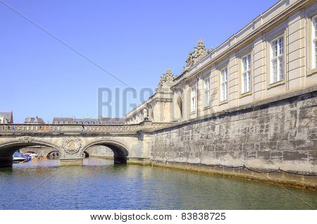 Facade Of The Royal Palace Christiansborg