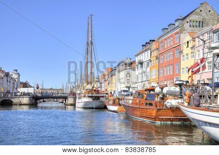 Channel Nyhavn Are In City Copenhagen