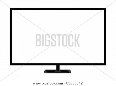 Television Set Isolated On White Background