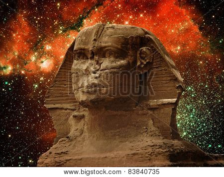 Sphinx And Small Magellanic Cloud (elements Of This Image Furnis