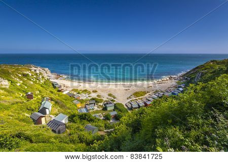 Church Ope Cove Beach Huts And Shoreline