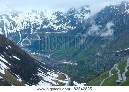 Summer Mountain Landscape (furka Pass, Switzerland)