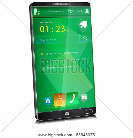 Mobile Phone With Thin Display Bezel