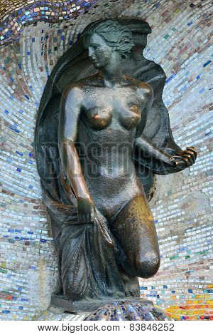 Sculpture Of A Nymph. Svetlogorsk (rauschen), Russia