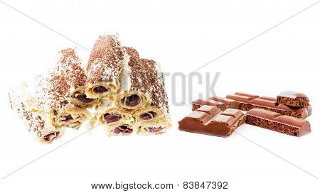 Aerated Chocolate And Original Cake With Butter Cream