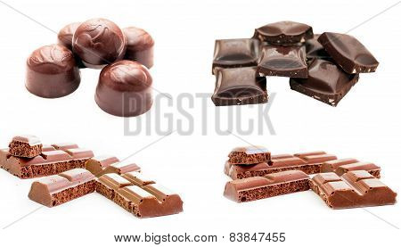 Different Chocolate And Different Shapes