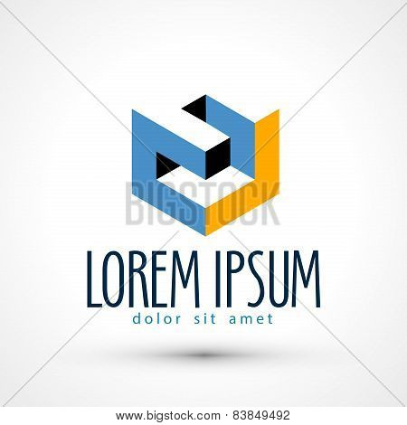 company vector logo design template. busines or industry icon.