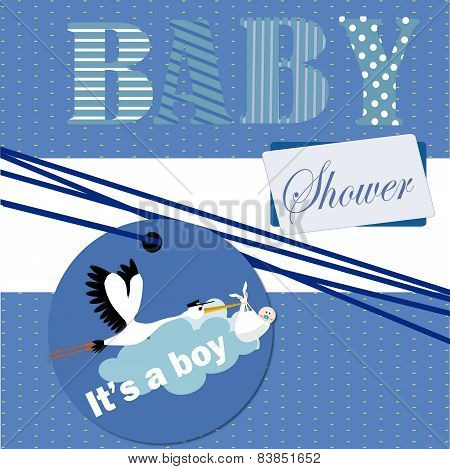 it's a boy , baby shower invitation
